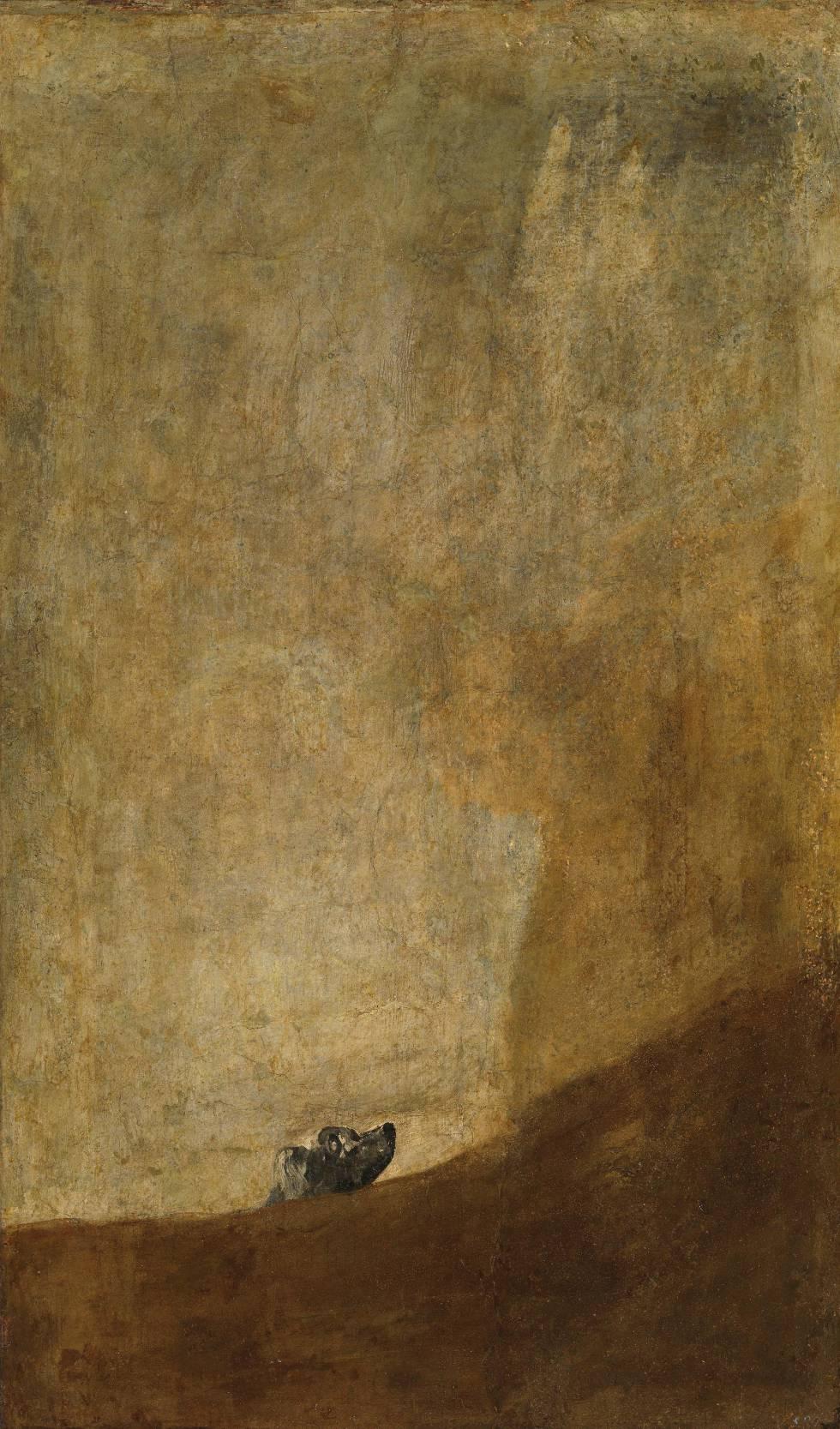 'Chien semi-coulé' (1820-23), de Goya, conservé au Musée du Prado.