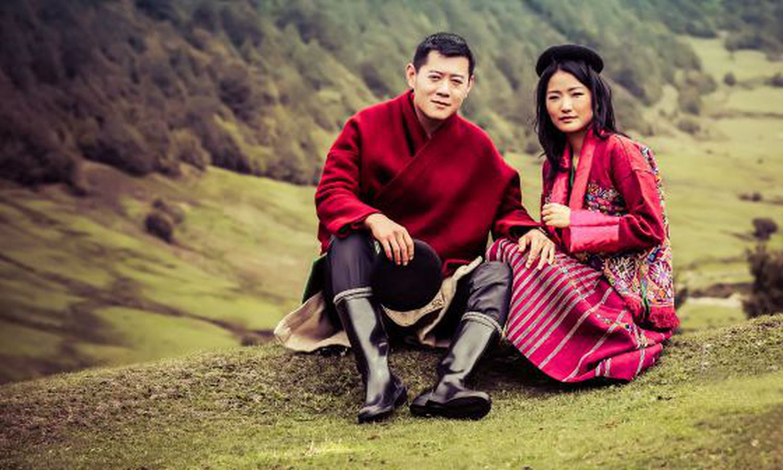 Le roi du Bhoutan, Jigme Khesar Namgyei Wangchuck, et son épouse, Jetsun Pema.